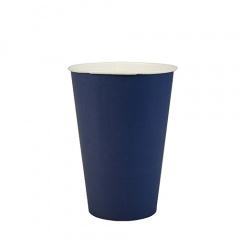 20 Trinkbecher, Pappe 0,2 l Ø 7 cm 9,7 cm dunkelblau
