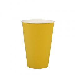 20 Trinkbecher, Pappe 0,2 l Ø 7 cm 9,7 cm gelb