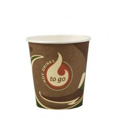 80 Trinkbecher, Pappe -To Go- 0,1 l Ø 6,3 cm 5,9 cm