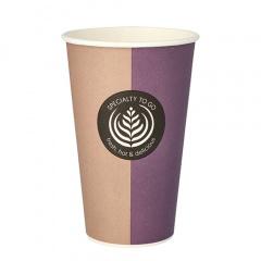 50 Trinkbecher, Pappe -To Go- 0,4 l Ø 9 cm 13,5 cm Einweg Kaffeebecher