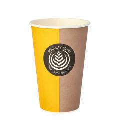 50 Trinkbecher, Pappe -To Go- 0,3 l Ø 8 cm 11,6 cm Einweg Kaffeebecher