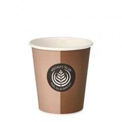 50 Trinkbecher, Pappe -To Go- 0,2 l Ø 8 cm 9,1 cm Einweg Kaffeebecher
