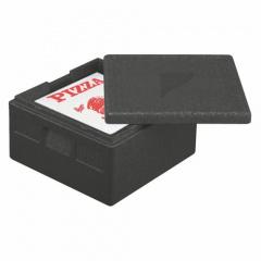 Isolier-Transportbehälter, EPP 41 cm x 41 cm x 24 cm schwarz -Pizza-