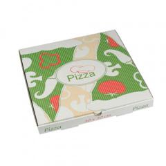 100 Pizzakartons, Cellulose eckig 30 cm x 30 cm x 3 cm -Italienische Flagge-