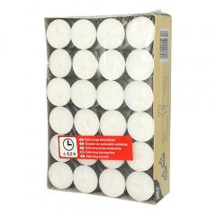 72 Teelichter Ø 39 mm 17,5 mm weiss · mit langer Brenndauer