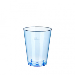 15 Trinkbecher, PS 0,2 l Ø 7,5 cm 9,7 cm hellblau