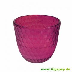 Glas mit Wachsfüllung Ø 92 mm 80 mm pink -Summer Light-