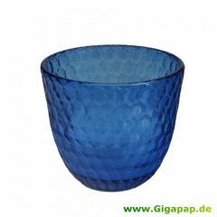 Glas mit Wachsfüllung Ø 92 mm 80 mm blau -Summer Light-