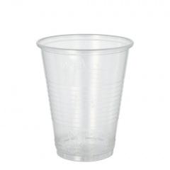50 Trinkbecher, PP 0,3 l Ø 9,5 cm 11,1 cm transparent mit Schaumrand