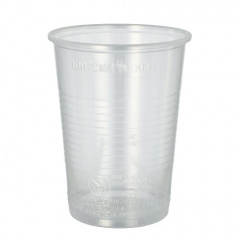 50 Trinkbecher, PP 0,4 l Ø 9,5 cm 12,2 cm transparent mit Schaumrand
