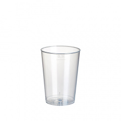 40 Trinkbecher, PP 0,1 l Ø 5,2 cm 7,4 cm transluzent unzerbrechlich