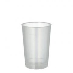 40 Trinkbecher, PP 0,2 l Ø 6,8 cm 9,8 cm transluzent unzerbrechlich