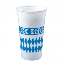 65 Trinkbecher, PS 0,5 l Ø 9,5 cm 15,5 cm -Bayrisch Blau-