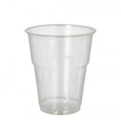 70 Kaltgetränkebecher, PLA -pure- 0,3 l Ø 9,5 cm 11 cm glasklar mit Schaumrand