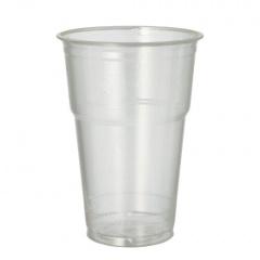 70 Kaltgetränkebecher, PLA -pure- 0,4 l Ø 9,5 cm 13,2 cm glasklar mit Schaumrand