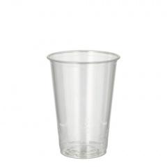 100 Kaltgetränkebecher, PLA -pure- 0,2 l Ø 7,03 cm 9,7 cm glasklar