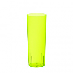 10 Gläser für Longdrinks, PS 0,3 l Ø 5,85 cm 15,2 cm gelb