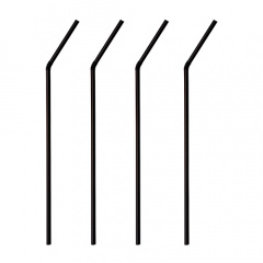 1000 Trinkhalme, flexibel Ø 5 mm 24 cm schwarz