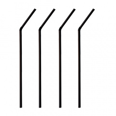 250 Trinkhalme, flexibel Ø 5 mm 24 cm schwarz