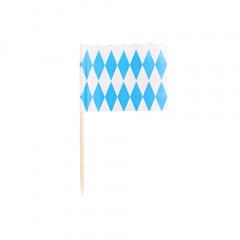 200 Deko-Picker 8 cm -Bayrisch Blau- Oktoberfest