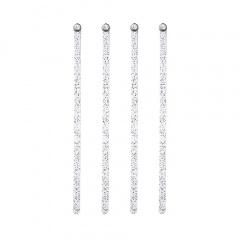 100 Getränke-Quirle 16,5 cm transparent -Glitter - Diamant-