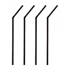 1000 Trinkhalme, flexibel Ø 6 mm 21 cm schwarz