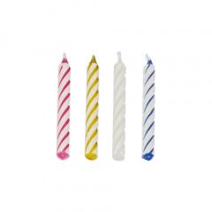 144 Geburtstagskerzen 6 cm farbig sortiert