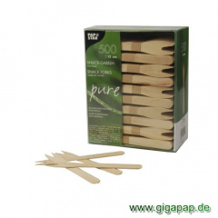 500 Snack-Gabeln, Holz -pure- 12,1 cm