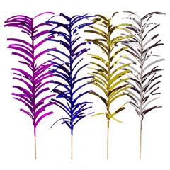 100 Deko-Picker 20 cm farbig sortiert -Palmblätter-