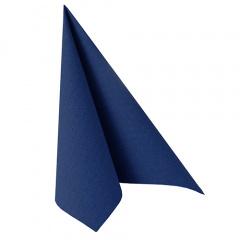 20 Servietten -ROYAL Collection- 1/4-Falz 40 cm x 40 cm dunkelblau