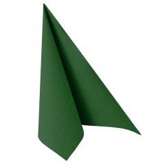 20 Servietten -ROYAL Collection- 1/4-Falz 40 cm x 40 cm dunkelgrün