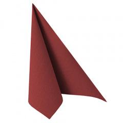 20 Servietten -ROYAL Collection- 1/4-Falz 40 cm x 40 cm bordeaux