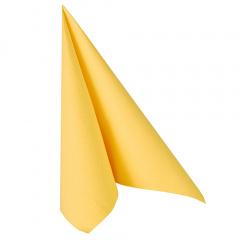 20 Servietten -ROYAL Collection- 1/4-Falz 40 cm x 40 cm gelb