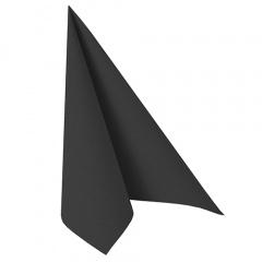 20 Servietten -ROYAL Collection- 1/4-Falz 40 cm x 40 cm schwarz