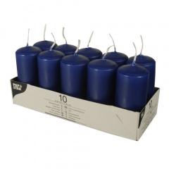 10 Stumpenkerzen Ø 40 mm 90 mm dunkelblau