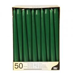 50 Leuchterkerzen Ø 2,2 cm 25 cm dunkelgrün