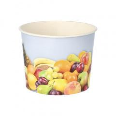 50 Eisbecher, Pappe rund 500 ml Ø 11 cm 8,3 cm -Früchte-