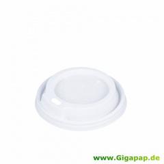 100 Dom-Deckel, PS rund Ø 7,3 cm 1,8 cm weiss für 0,18 l Thermobecher