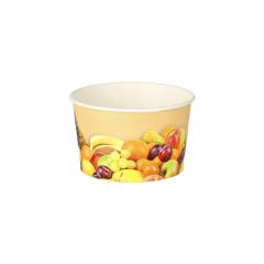 200 Eisbecher, Pappe rund 125 ml Ø 8 cm 4,8 cm -Früchte-