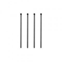 500 Rührstäbchen, PS 15 cm x 6 mm schwarz
