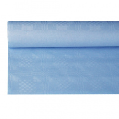Papiertischtuch mit Damastprägung 8 m x 1,2 m hellblau