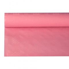 Papiertischtuch mit Damastprägung 8 m x 1,2 m rosa