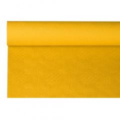 Papiertischtuch mit Damastprägung 8 m x 1,2 m gelb