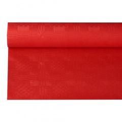 Papiertischtuch mit Damastprägung 8 m x 1,2 m rot