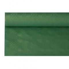 Papiertischtuch mit Damastprägung 8 m x 1,2 m dunkelgrün