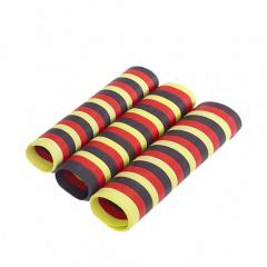 3 Luftschlangen 4 m -schwarz/rot/gelb- schwer entflammbar