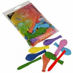 50 Luftballons farbig sortiert -verschiedene Formen-