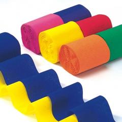 6 Rollen Krepp-Bänder 10 m x 5 cm farbig sortiert