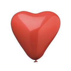4 Luftballons Ø 19 cm rot -Herz-
