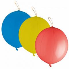 3 Punch Ballons Ø 47 cm farbig sortiert
